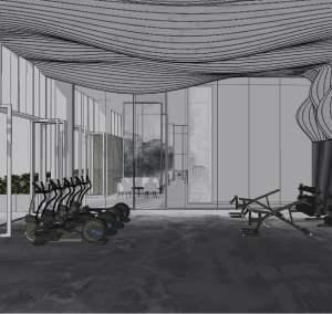 Rendering of Y9825 Condos fitness centre