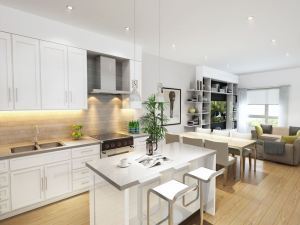 Rendering of Johnathan Towns interior kitchen
