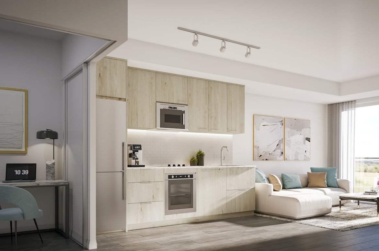 Rendering of The Wilmot Condos Interior suite kitchen