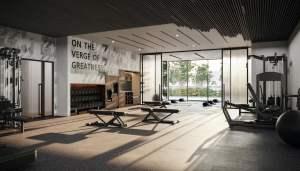 Rendering of Verge Condos fitness studio