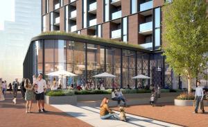 Rendering of 33 Parliament Condos exterior amenities