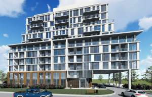 Rendering of 3374 Keele Condos exterior front view