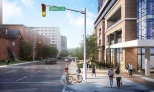 Rendering of Apex Condos street intersection