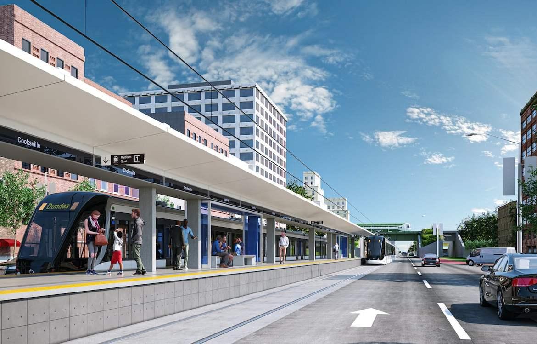 Rendering of Arte Condos LRT Cooksville Station