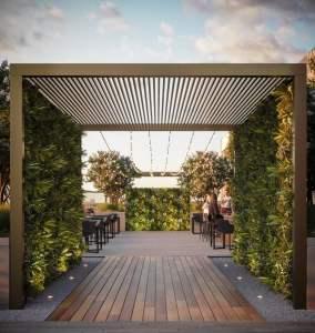 Rendering of Arte Residences outdoor terrace