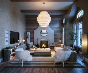 Interior rendering of a home at McMichael Estates living room