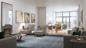 Rendering of The Walton Residences interior