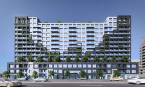 Rendering of Westline Condos exterior during the day