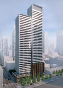 Rendering of 241 Richmond Condos exterior full view