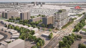Rendering of 3431 St Clair Ave Condos aerial