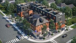 Rendering of West Six Urban Towns aerial