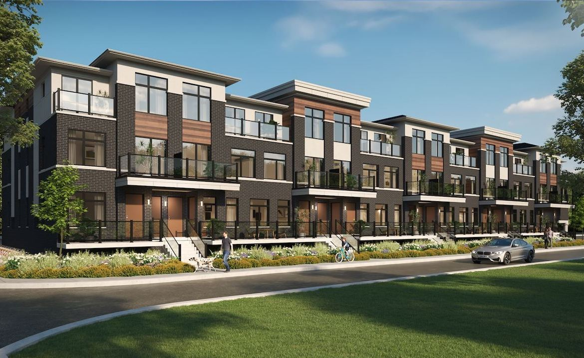 Exterior rendering of Central District Towns in Pickering