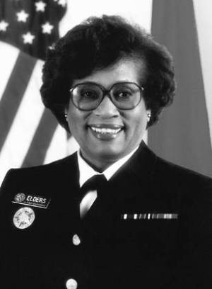Dr. Jocelyn Elders. Image from US National Library of Medicine