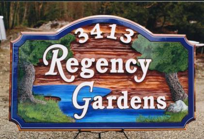 garden cedar sign