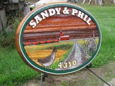 residential sandblasted cedar sign