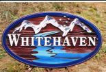 WhiteHaven cedar sign