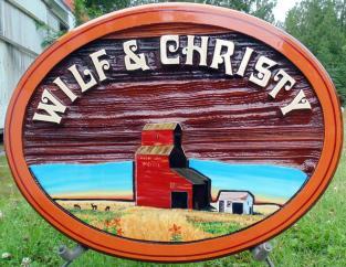 custom wedding sandblasted cedar sign, wedding sign,wedding,gift,Moose Jaw Sask,Artist painted cedar sign,Condor Signs,Vernon BC