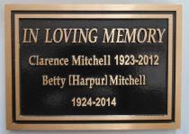 Bronze memorial plaque custom design and made of bronze