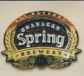gold leaf lettering for okanagan springs brewery Venon bc.Condor signs can incorperate gold leaf lettering to your sign.