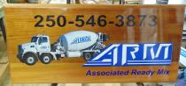 mabel lake ad board associated ready mix Armstrong BC