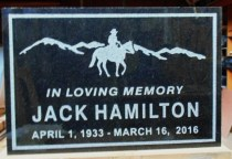 Sand blasted granite or bronze memorial plaques custom made in any size.By Condor signs Vernon bc