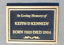 bronze memorial plaque custom designed for Keith Kennedy by condor signs Vernon BC.bronze wood granite memorial plaques of any size.