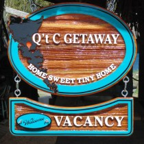 Bed and Breafast sand blasted custom made cedar sign by Condor Signs Vernon BC
