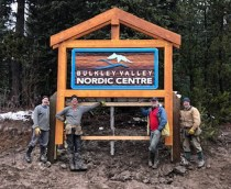 cedar sandblasted sign for bulkley valley nordic centre in smithers bc custom made by condor signs vernon bc