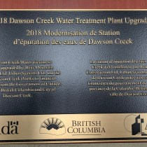 Memorial cast bronze plaque for the City of Dawson Creek supplied by Condor signs Vernon BC