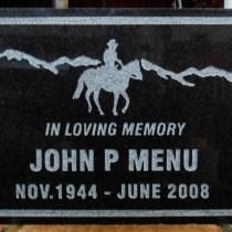 Grave marker in granite sandblasted and designed by Condor Signs Vernon BC