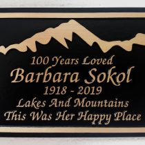 Bronze metal grave marker bench memorial plaque