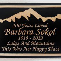 Bronze metal grave marker bench memorial plaque