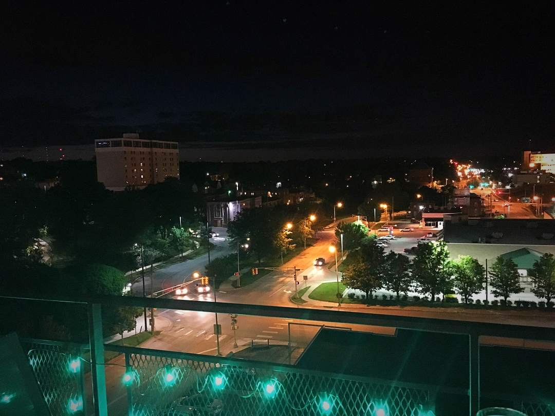 Nighttime From The Balcony at The Condos At 3000 Farnam