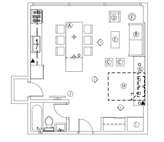 Autocad Sample Floor Plan Sketch Coloring Page