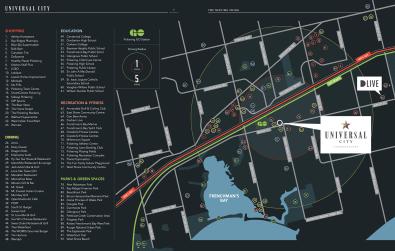 universal city 3 map