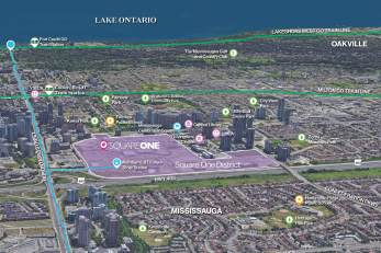 Square One District Site Map