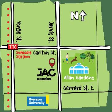 Jac Condos Map