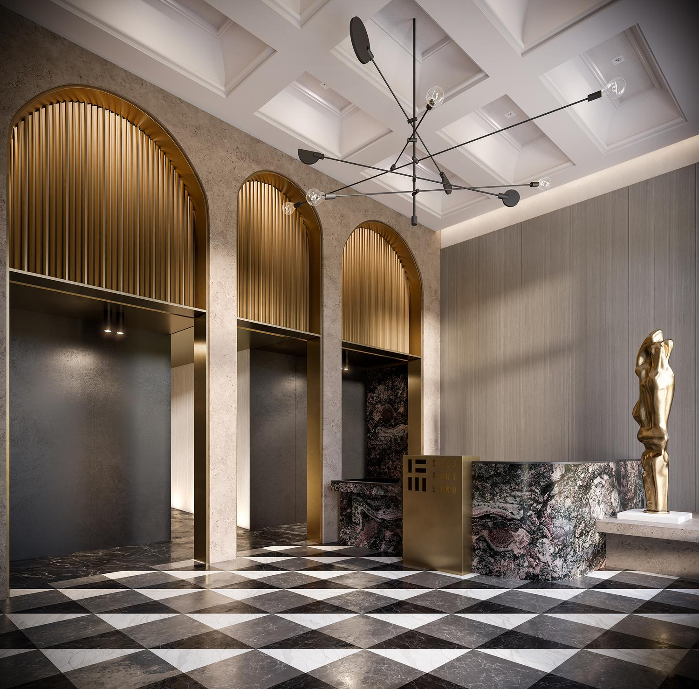 123 Portland Lobby Concept