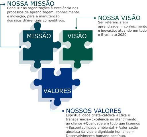 Missão, visão e valores da Conducere