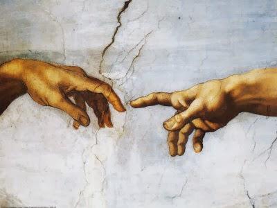 Criação do homem por Michelangelo