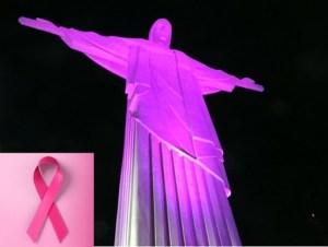 Cristo Redentor iluminado