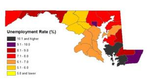 county unemployment rates 2013