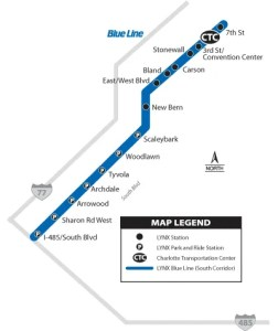 LYNX Map. Courtesy: Charlotte Area Transit System (CATS)