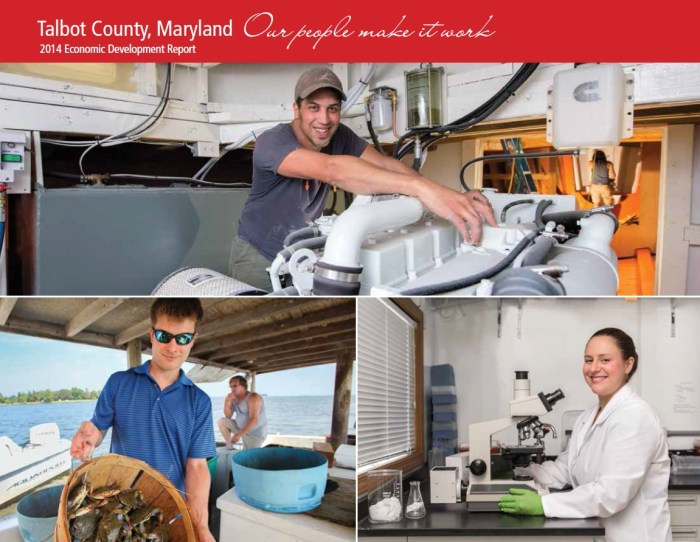 """2014 Talbot County Economic Report, """"Talbot County, Maryland. Our People Make It Work."""""""
