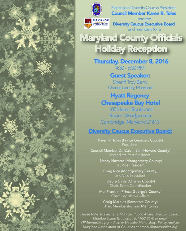 Maryland County Officials Diversity Caucus Holiday Reception