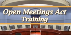 Upcoming Open Meetings Act Trainings
