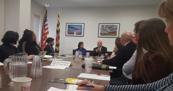 Senator Cardin discusses taxes, healthcare, infrastructure, transportation priorities and more at business round table.