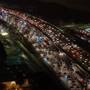 Maryland traffic jam at night