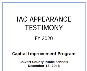 County Capital Projects Advance According to State School Construction Staff's Recommendation