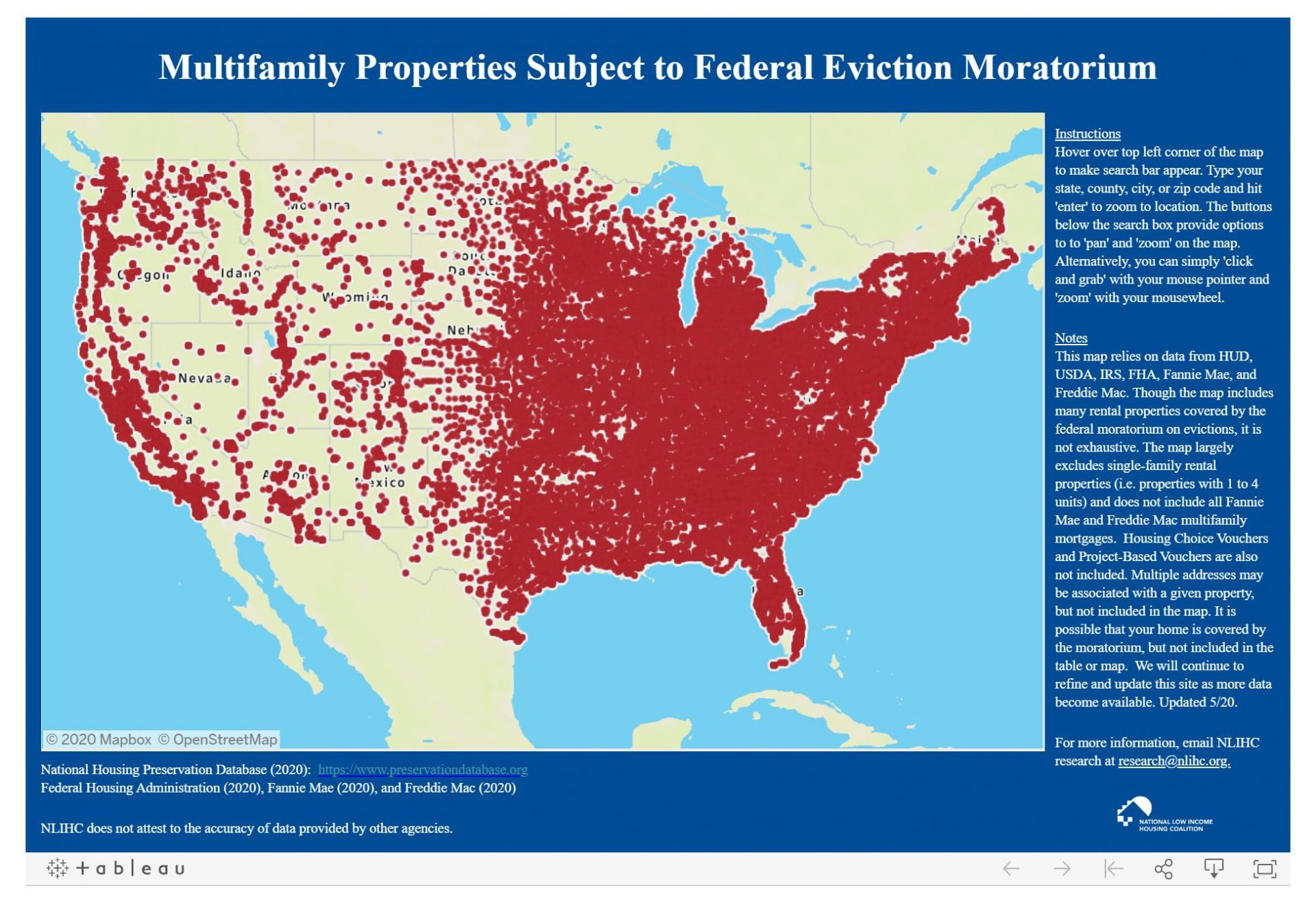 NLIHC Creates Database, Map of MultiFamily Properties Subject to Federal Eviction Moratorium